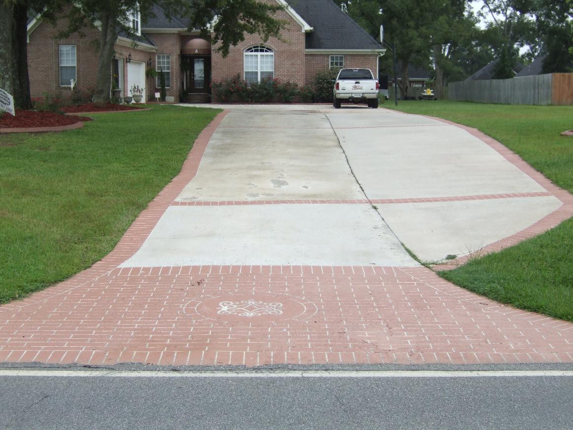 Southern concrete designs llc photo gallery 2 for Driveway apron ideas