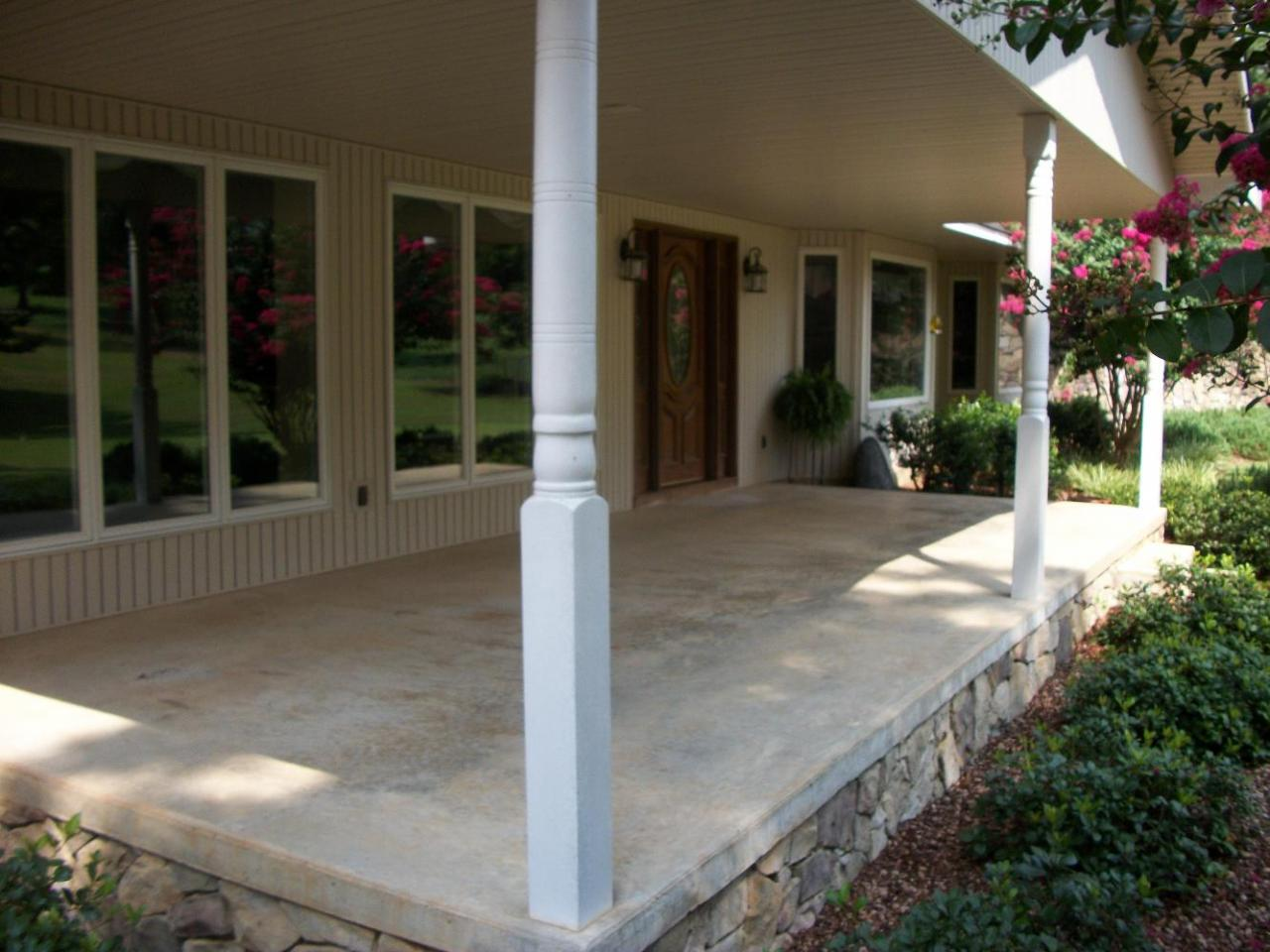 Southern concrete designs llc photo gallery 2 for Brick porch designs for houses